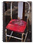 Rusty Metal Chair Spiral Notebook