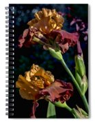 Rusty Petals Spiral Notebook