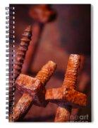 Rusty Screws Spiral Notebook