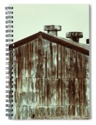 Rusty Tin Factory Building Spiral Notebook