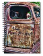 Rusty Truck Door Spiral Notebook