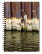 Rusty Wall By The River Spiral Notebook