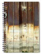 Rusty Wall In The City Spiral Notebook