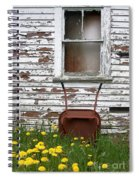 Rusty Wheelbarrow And Wildflowers Spiral Notebook