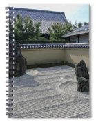 Ryogen-in Raked Gravel Garden - Kyoto Japan Spiral Notebook