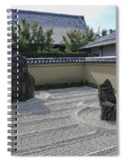 Ryogen-in Raked Gravel Garden - Kyoto Japan Spiral Notebook