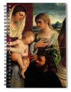 Sacra Conversatione With Ss Catherine Sebastian And Holy Family Spiral Notebook