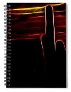 Saguro Cactus Silhouette Spiral Notebook