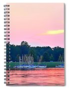 Sail Boats Pretty In Pink  Spiral Notebook