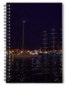 Sailboat And Maltese Hawk Spiral Notebook