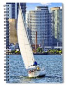 Sailboat In Toronto Harbor Spiral Notebook