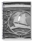 Sailboat On The Boathouse Spiral Notebook
