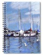 Sailboats And Seagulls Spiral Notebook