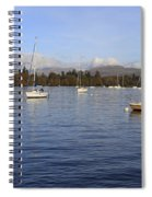 Sailboats At Anchor In Bowness On Windermere Spiral Notebook