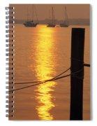Sailboats At Sunset Spiral Notebook