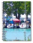 Sailboats In Dock Spiral Notebook