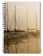Sailboats In Golden Fog Spiral Notebook