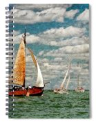 Sailboats In The Netherlands By The Zuiderzee Spiral Notebook