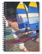 Sailboats South Of France Spiral Notebook