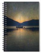 Sailing Boat At Night Spiral Notebook