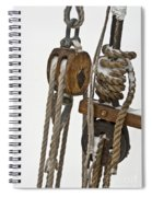Sailing Boat Detail With Snow Spiral Notebook