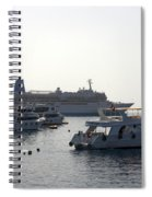 Sailing Boats And A Large Yacht In The Harbour At Sharm El Sheikh Spiral Notebook