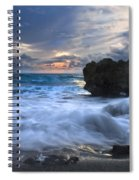 Sailing On The Silk Blue Sea Spiral Notebook