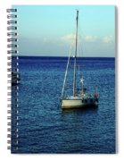 Sailing The Blue Waters Of Greece Spiral Notebook
