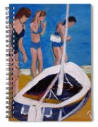 Sailing The Wildflower Spiral Notebook