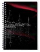 Sailing Under Strange Lights Spiral Notebook