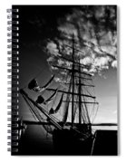 Sails In The Sunset Spiral Notebook