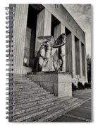 Saint Louis Soldiers Memorial Exterior Black And White Spiral Notebook