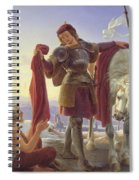 Saint Martin And The Beggar Spiral Notebook