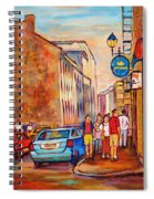 Saint Paul Street  Montreal Spiral Notebook