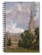 Salisbury Cathedral From The South West Spiral Notebook