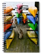Salma Kayaks Spiral Notebook