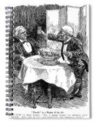 Samuel Clemens Cartoon Spiral Notebook