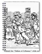 Samuel L. Clemens Cartoon Spiral Notebook