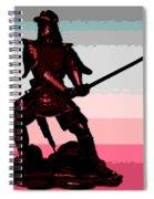 Samurai Sunrise Spiral Notebook