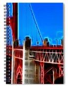 San Francisco Golden Gate Bridge Electrified Spiral Notebook