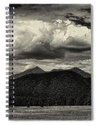 San Francisco Peaks In Black And White Spiral Notebook
