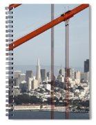 San Francisco Through The Cables Spiral Notebook