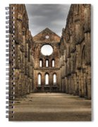 San Galgano  - A Ruin Of An Old Monastery With No Roof Spiral Notebook