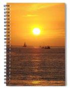 San Juan Capistrano Beach Sunset Spiral Notebook