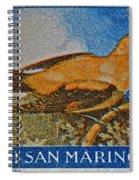 San Marino 1 Lire Stamp Spiral Notebook