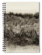 Sand Dune In Sepia Spiral Notebook