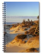 Sand Dunes At Sunset, Lake Huron Spiral Notebook
