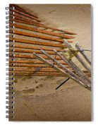 Sand Fence Falling Down On The Beach Spiral Notebook