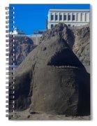 Sand Shark At Cliff House Spiral Notebook
