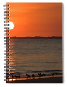 Sandpipers At Sundown Spiral Notebook